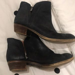 Lucky brand black ankle bootie